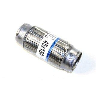 Flexstück Flexrohr (45x150mm) Auspuffrohr - Innen- und Außen-Gewebe