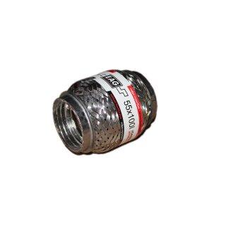 EAG Flexstück Flexrohr (55x100mm) Auspuffrohr - Interlock und Außen-Gewebe