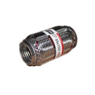 EAG Flexstück Flexrohr (55 x 150mm) Auspuffrohr - Interlock und Außen-Gewebe