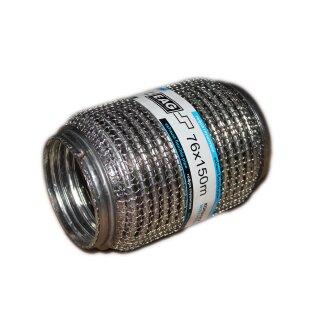 EAG Flexstück Flexrohr (76x150mm) Auspuffrohr - Interlock und Außen-Gestrick