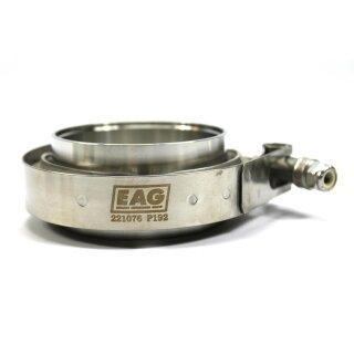 EAG Schelle V-Band 76mm/3,0 Zoll mit Flanschstutzen (Ohne Dichtung)
