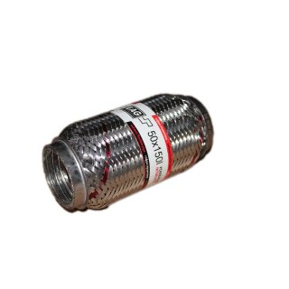 EAG Flexstück Flexrohr (50x150mm) Auspuffrohr - Interlock und Außen-Gewebe