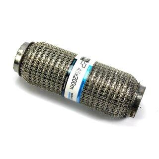 EAG Flexstück Flexrohr (45x200mm) Auspuffrohr - Interlock und Außen-Gestrick