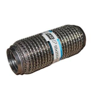 EAG Flexstück Flexrohr (55x200mm) Auspuffrohr - Interlock und Außen-Gestrick