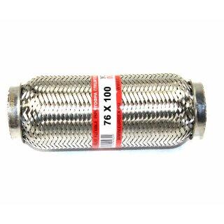 EAG Flexstück Flexrohr (76x100mm) Auspuffrohr - Interlock und Außen-Gewebe