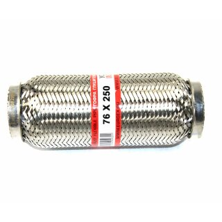 EAG Flexstück Flexrohr (76x250mm) Auspuffrohr - Interlock und Außen-Gewebe