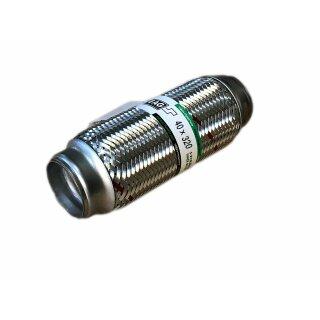 EAG Flexstück Flexrohr (40x320mm) Auspuffrohr - Innen- und Außen-Gewebe