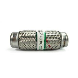 EAG Flexstück Flexrohr (45x180mm) Auspuffrohr - Innen- und Außen-Gewebe